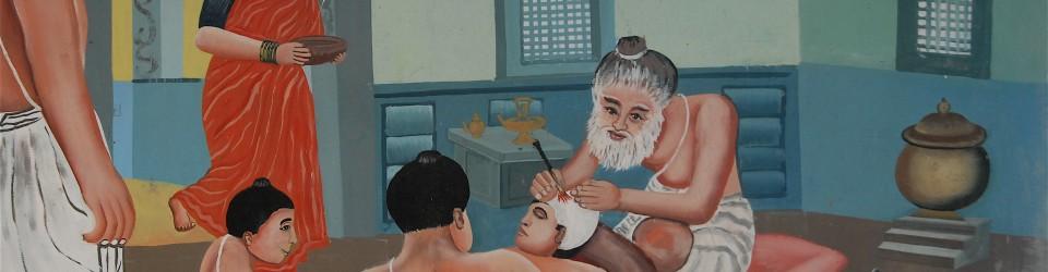 Massage at Mahābalipuram