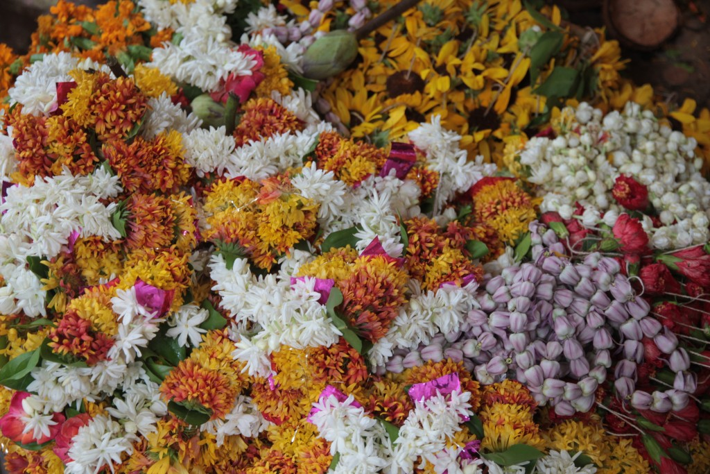 Offering flowers, Puja
