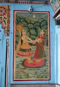 Radha & Krishna dancing painting