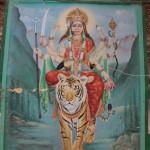 Lakshmi or Mahalakshmi, the goddess of fortune wife of Viṣṇu, in Vārānasī (Benares)