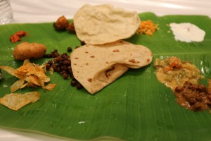 Chapati on banana leaf
