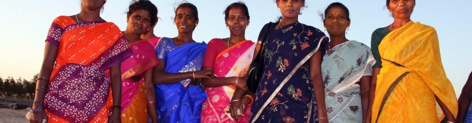 Saries chatoyants des femmes indiennes