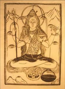 Shiva, on paper