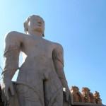 Monolithic statue of 18 m, the Gomateshwara at Shravanabelagola in Karnataka Tirthankara