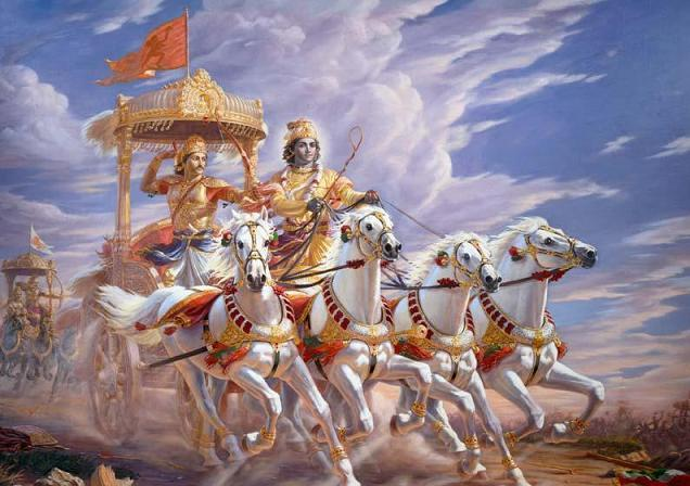 "Bhagavad-Gita, ""the song of the blessed."