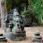 Ganesha, Ashtanga Yoga institute garden