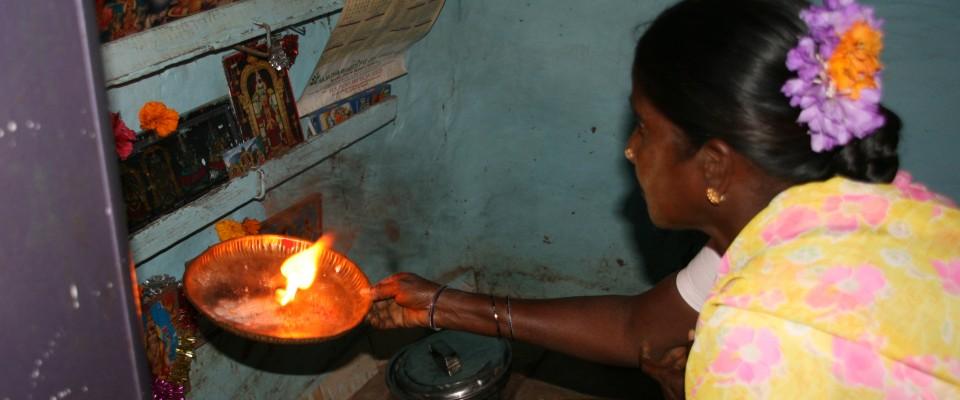 Pongal Puja dans le puja room à la maison