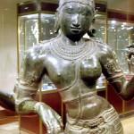 Chennai, la galerie d'Art Nationale, Ardhanârîshvara période Chola, bronze