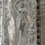 Ekambareshvara Temple, Parvati in Ardha Baddha Padmottanasana