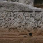 Mahabalipuram, la grotte du Tigre , fresque