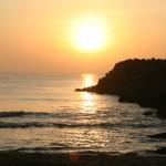 Mahabalipuram, Sun on ocean