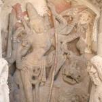 Kanchipuram, Kailashanatha Temple, Durga