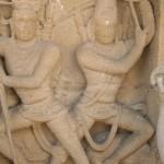 Kanchipuram, Kailashanatha Temple, Shiva Virabhadra