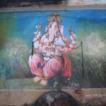 Manakula Vinayagar Temple Ganesh painting