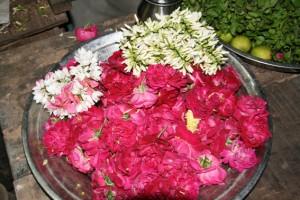 Chidambaram offrande fleurs