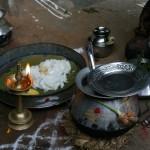 """Pongal """" Puja cérémonie """" pour le repas"""