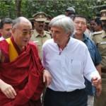 Le Dalaï Lama à Auroville, pour l'inauguration du pavillon Tibétain