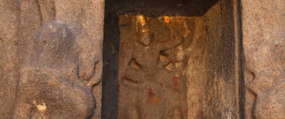 Mahabalipuram, Ratha_de Draupadi consacré à Durgâ