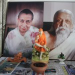 Portrait de Mère & Sri Aurobindo très présent à Pondichérie