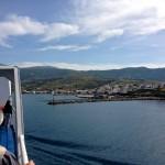 Arrivé du Ferry à GAVRIO (Andros Island)