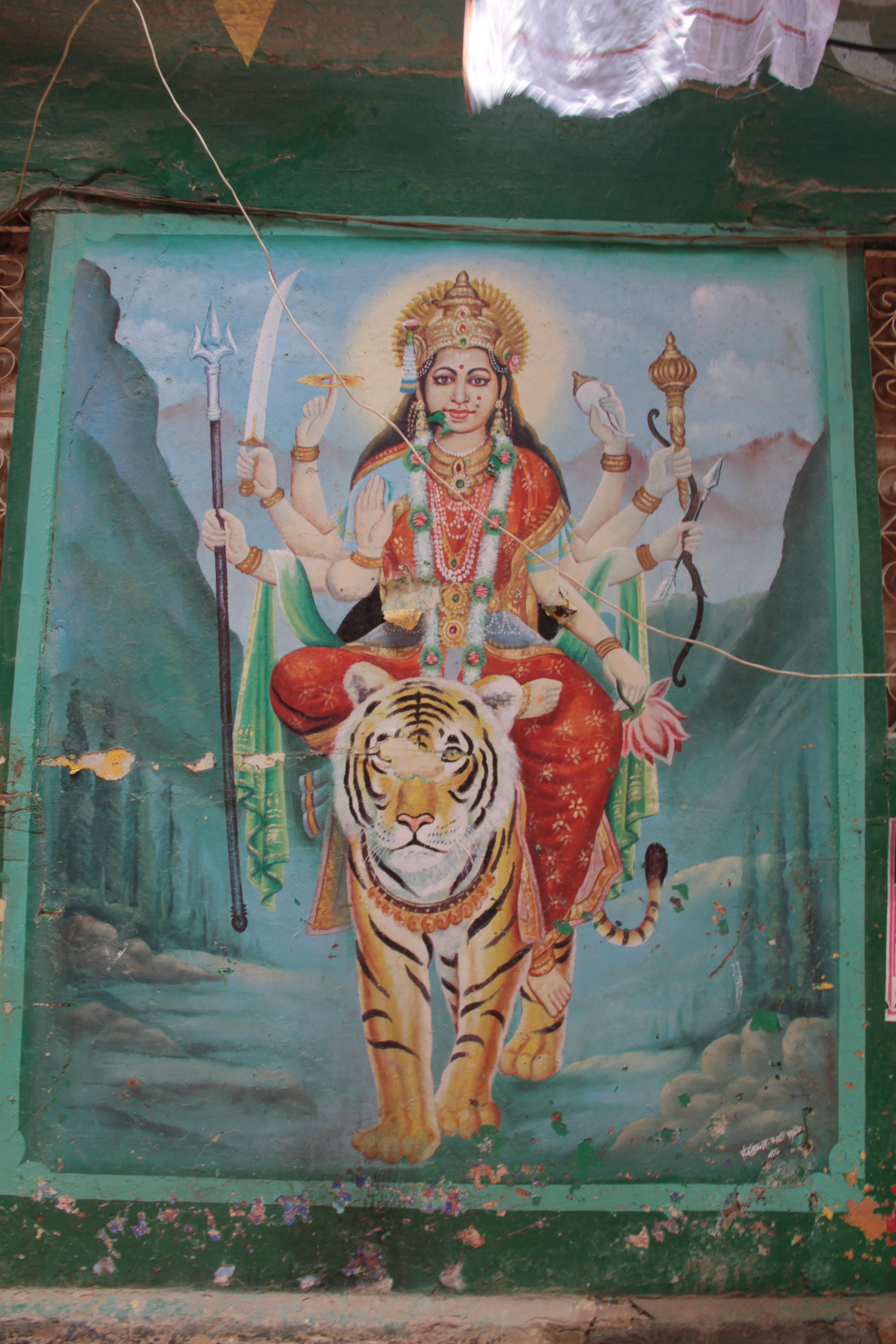 Lakshmi ou Mahalakshmi, la déesse de la fortune épouse de Viṣṇu