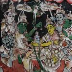Puja Shiva Lingam, Peinture sur verre