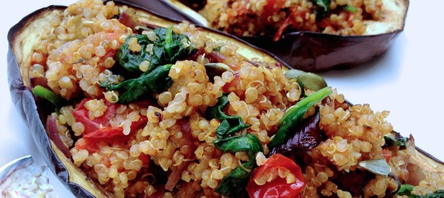 Quinoa & aubergine farcie