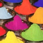 Rangoli poudre en couleur