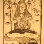 Shiva, dessin sur papier
