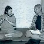 Lors d'un stage Ashtanga Yoga à la Cté de Arche, été 1986, Norbert & JC
