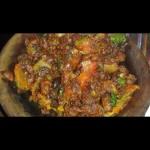 Bijni curry (aubergines)
