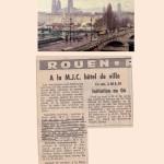 Coupure du Journal Paris Normandie, ouverture de cours de yoga par Jean Claude à la MJC de Rouen