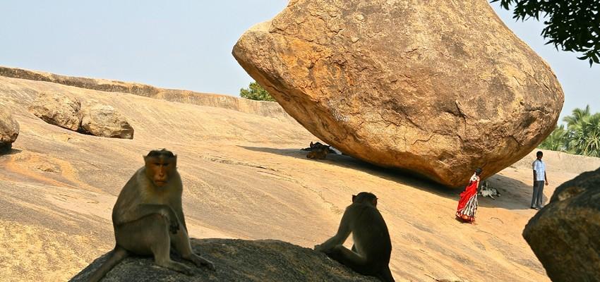 La boule de beurre de Krishna-Mahabalipuram