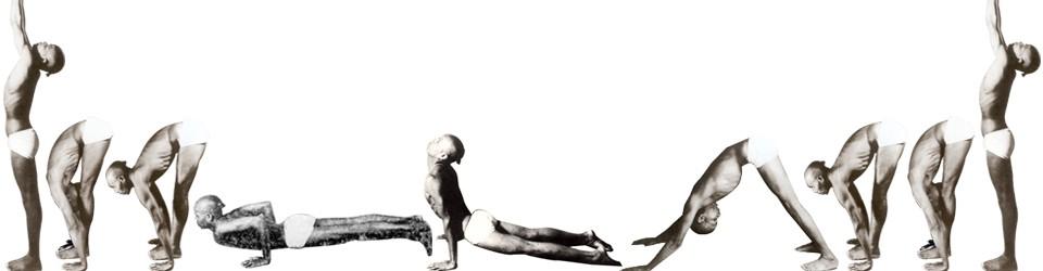 The sequence of rhythmic postures: the sun salutation