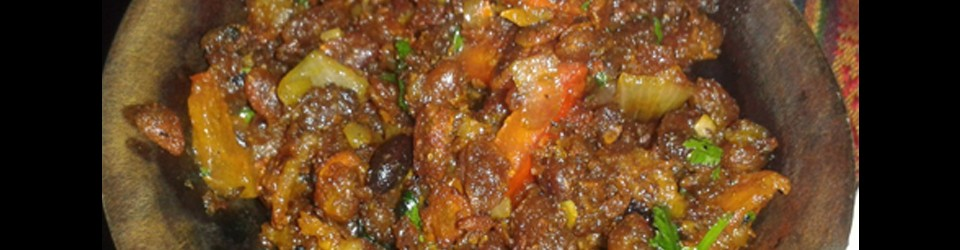 Bijni curry (Eggplants)