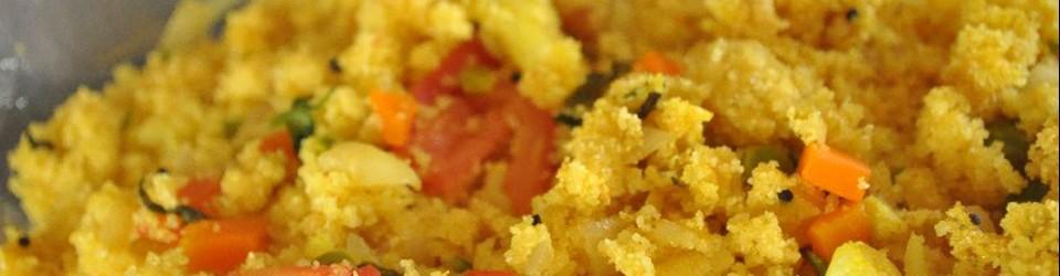 Vegetable Upuma (pour 2 personnes)