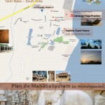 Plan de Mahabalipuram ou Mamallapuram, Sud de l'Inde